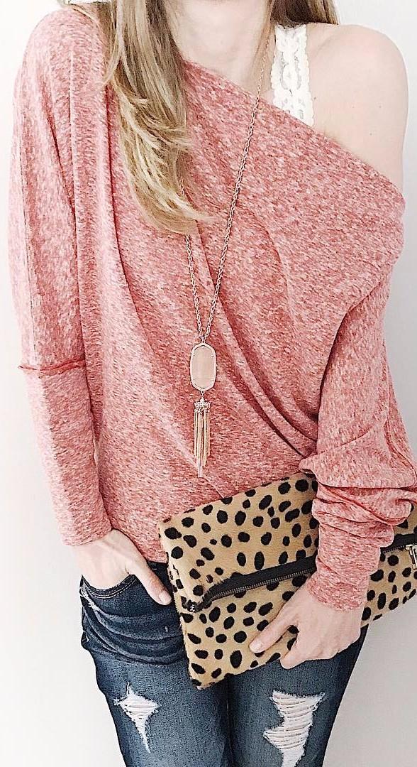 ootd details: pink + leopard