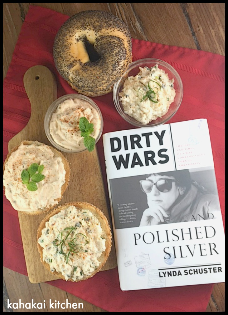 Kahakai kitchen the book tour stops here a review of dirty wars recipes for smoked trout shmear and harissa mint shmear inspired by my reading theres also a giveaway for a chance to win a copy of the book at the forumfinder Image collections