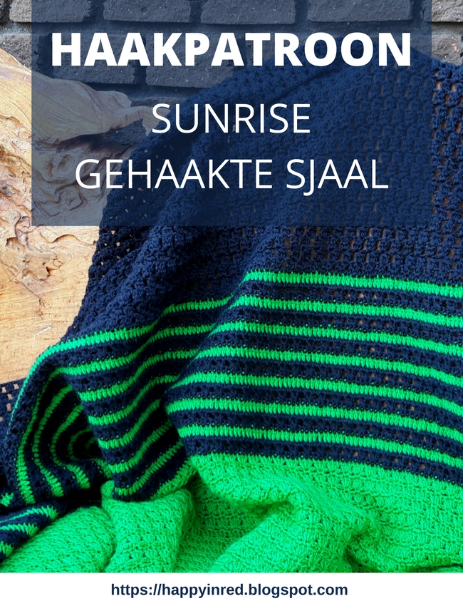 Haakpatroon gehaakte sjaal: sunrise shawl | Happy in Red