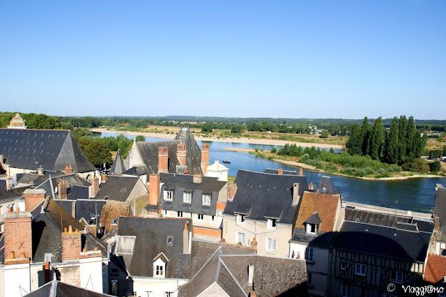 La bella vista dal Castello Reale sulla cittadina di Amboise