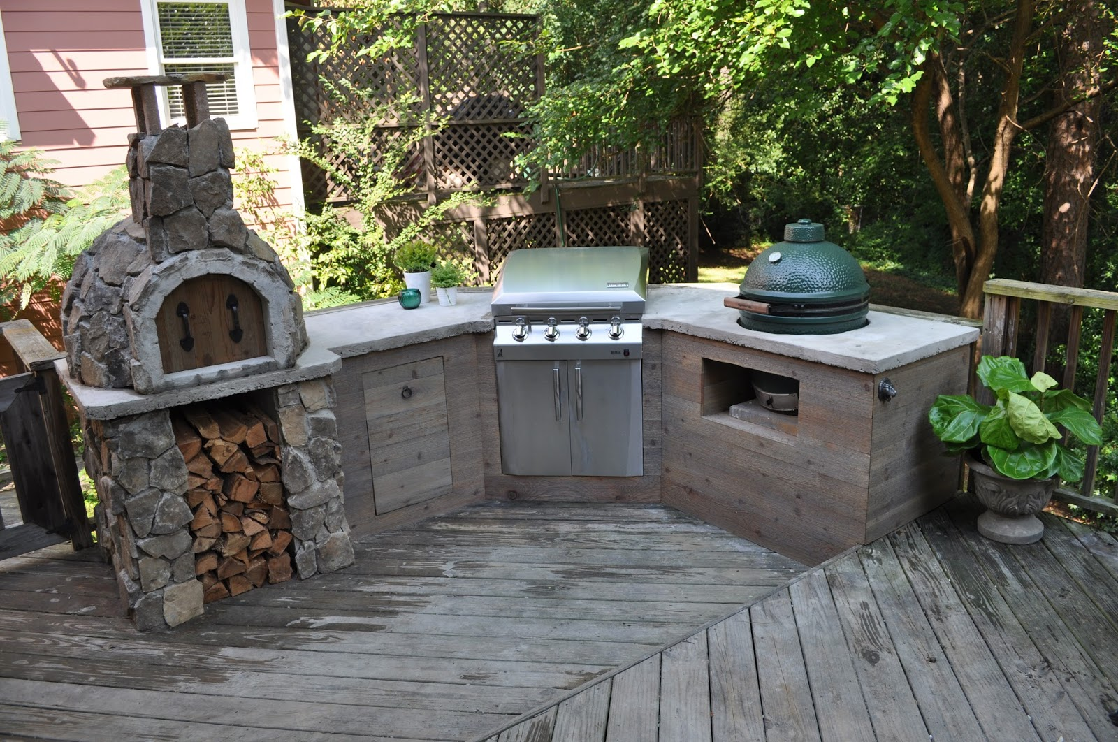 The Cow Spot: Outdoor Kitchen Finale on Diy Patio Grill Island id=76081