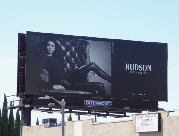 Hudson Jeans Kaia Gerber billboard