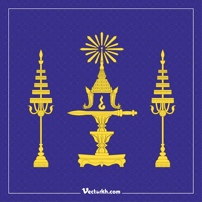 Cambodia King Poster 03 Free vector