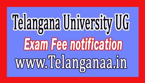 Telangana University UG I Sem Exam Fee notification 2016 Download