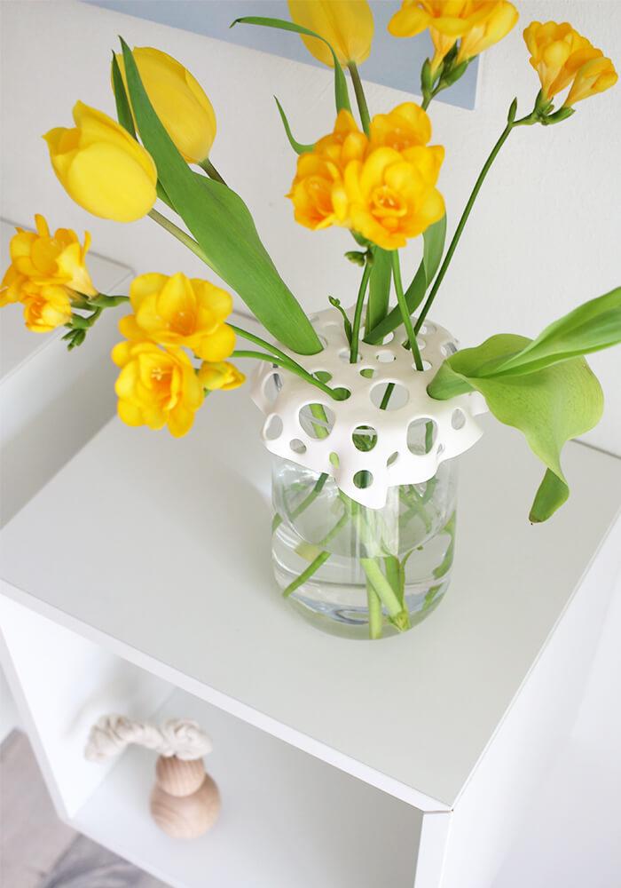 Aufsatz für Vasen aus Fimo selbst basteln