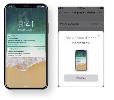 iOS 11 Automatic Setup iPhone 8