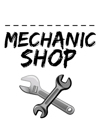 Mechanic shop pretend play