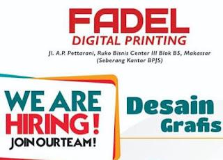 Lowongan Kerja Desain Grafis di Fadel Digital Printing Makassar