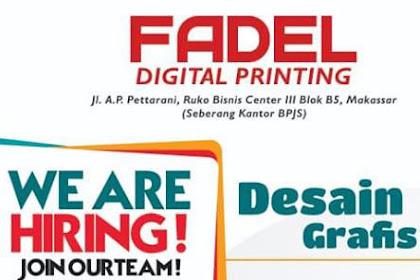 Lowongan Kerja Desain Grafis di Fadel Digital Printing Makassar (tutup 15 Januari 2019)
