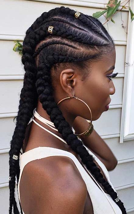 19 Afro Braid Hairstyles Ponytails With Weave That Will Attract Beauty Styleuki