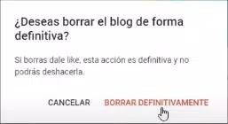 Borrar blog de Blogger definitivamente