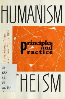 Humanism, atheism : principles and practice Free Book