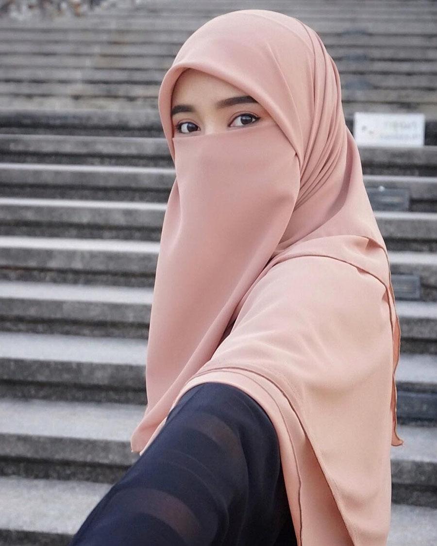 Cewek Cantik cadar atau niqab