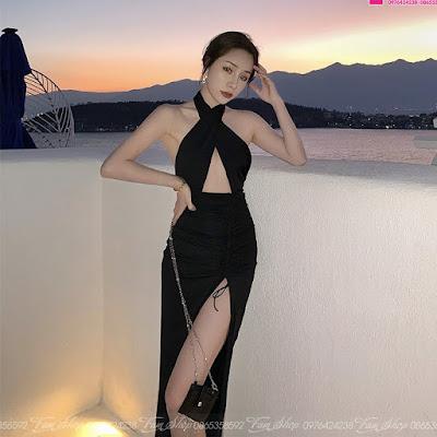 Váy maxi đi biển V420