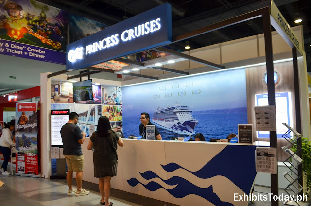 Princess Cruises exhibit booth