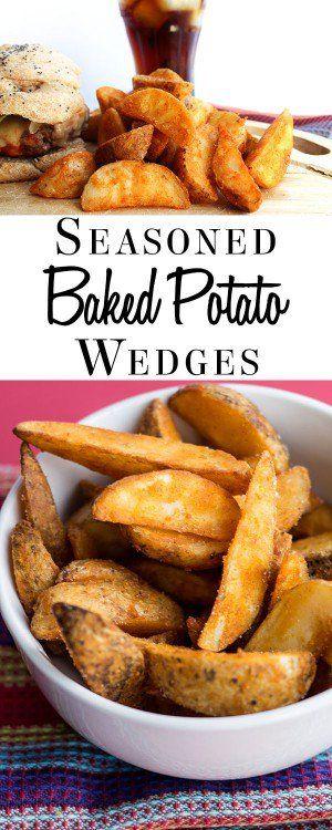 Easy Seasoned Baked Potato Wedges