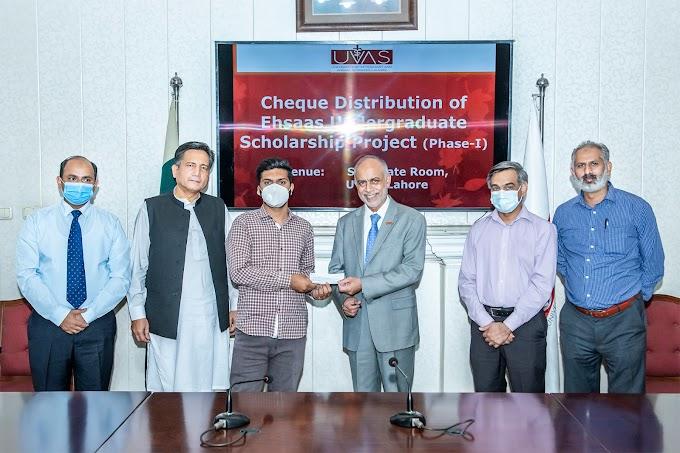 UVAS disburses Rs. 28 million Ehsaas Undergraduate scholarships among students.