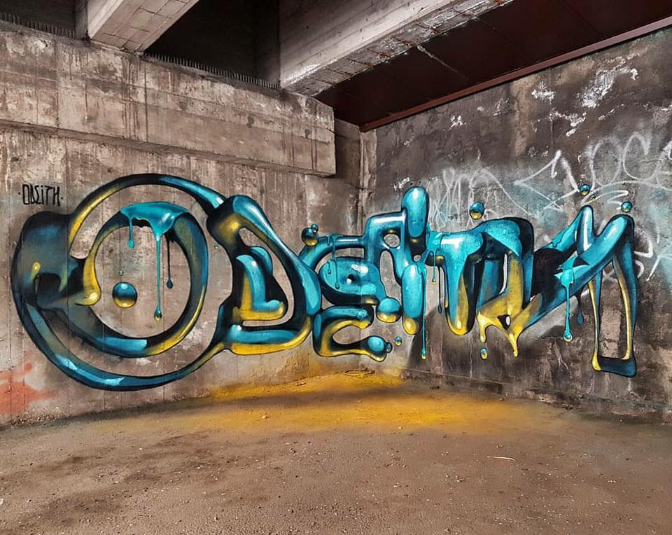 Graffiti Collection Ideas 3d Typography Graffiti By Odeith