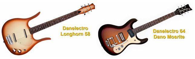 Modelos de Guitarra Danelectro Longhorn 58 y Danelectro 64 Dano Mosrite