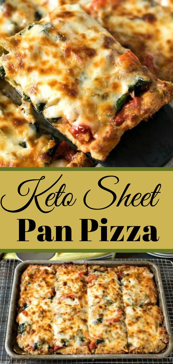Keto Sheet Pan Pizza #vegan #healthy