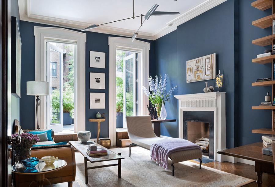 6 modern navy blue living room ideas  dream house