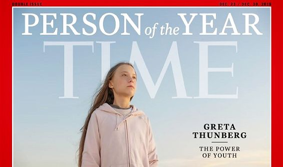 Time magazine / 16-year-old environmental activist Greta Thunberg was elected 'Person of the Year', the youngest to receive this award
