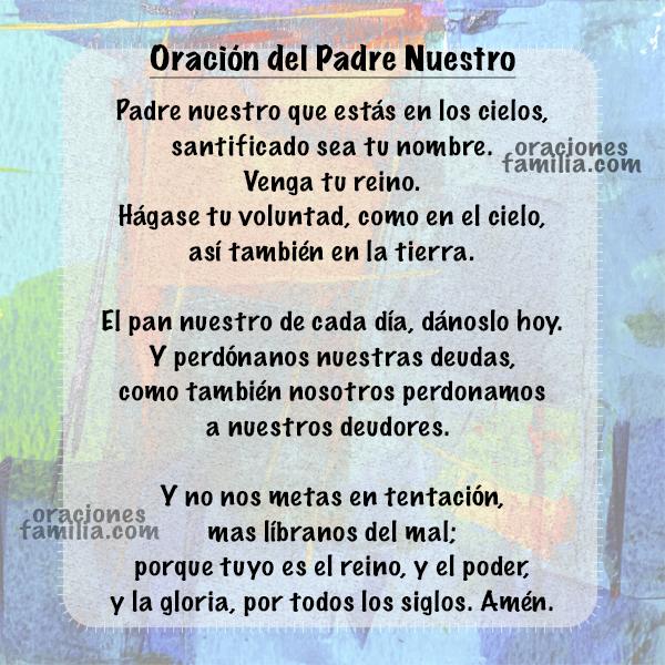 ▷▷ Mira la oración del Padre Nuestro, para orar, rezar, hablar con Dios. Oración de Jesús en la Biblia, el Padrenuestro, oración corta cristiana con peticiones.