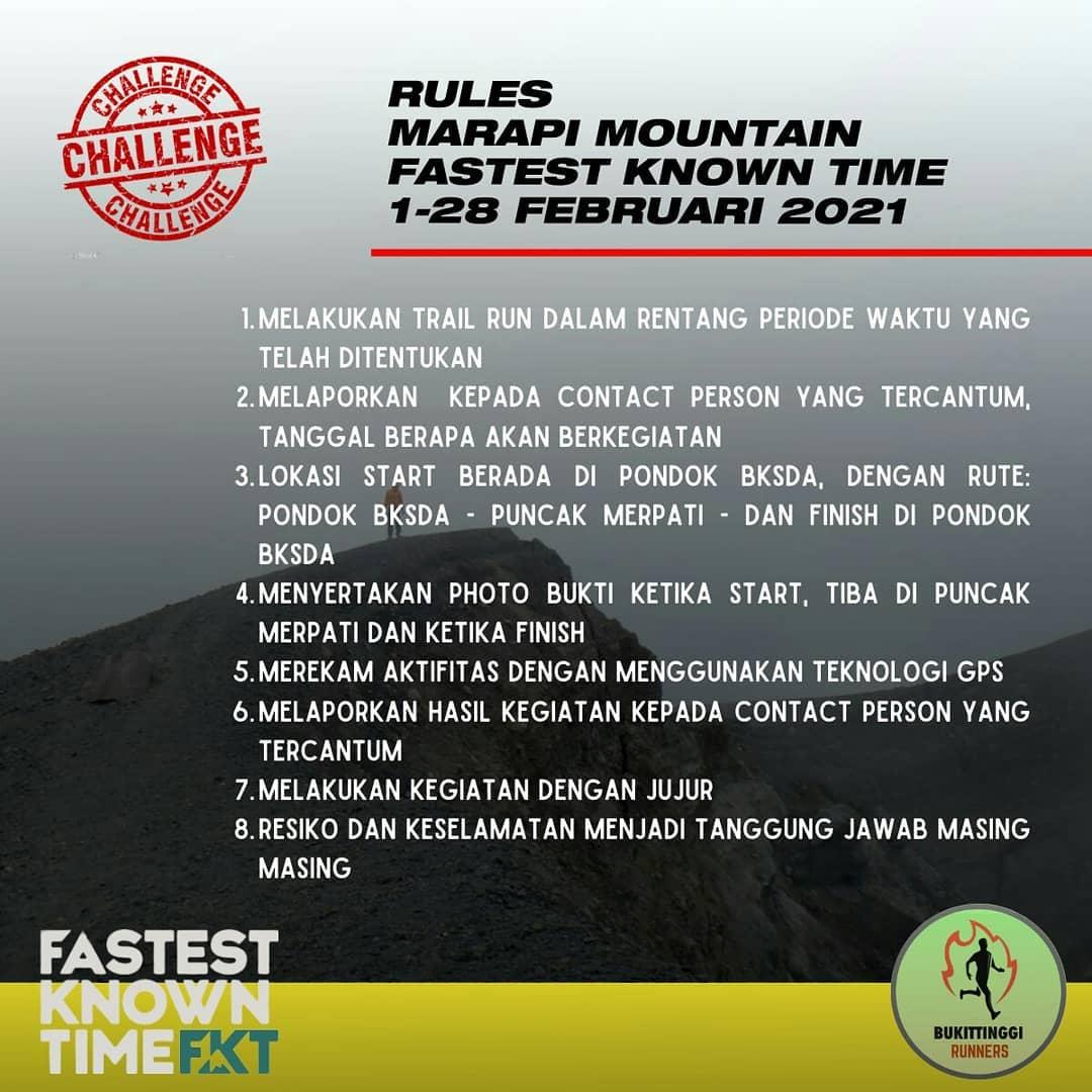 Fastest Known Time - FKT Marapi Mountain • 2021