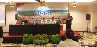 Asisten I Bidang Pemerintahan dan Kesra Membuka Workshop Pengendalian Kerusakan Perairan Darat