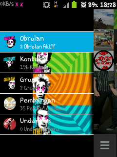 BBM MOD GINGERBREAD GREEN DAY