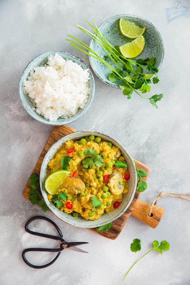 Wegańskie curry, curry z soczewicy