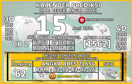 Kalender Prediksi HK Senin 14-06-2021