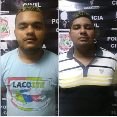 Polícia Civil prende dois homens suspeitos matar uma mulher por disputa de tráfico de drogas em Sobral