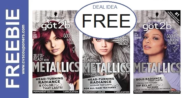 FREE Got2b Metallic Hair Color at CVS