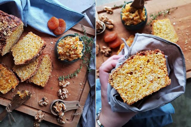 Hafer-Kürbis Brot mit Aprikosen-Thymian Butter