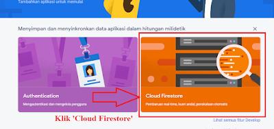 Mengaktifkan Produk Cloud Firestore