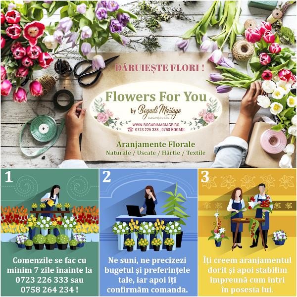 Bogadi Mariage Vatra Dornei - Comanda Aranjamente Florale - Flori Naturale, Hartie, Textile, Uscate