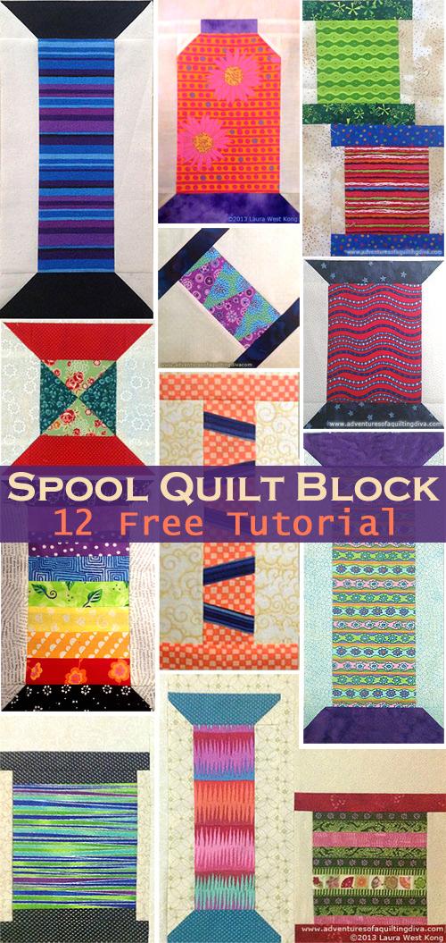 Spool Quilt Block Tutorial & Pattern