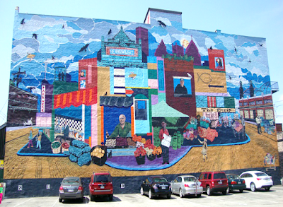 The Strip Wall Mural - Street Art in Pittsburgh Pennsylvania