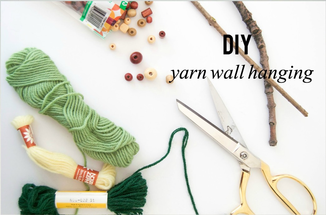 DIY | YARN WALL HANGING FOR THE CHARMING | THE LOLLY PROJECT