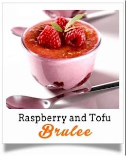 Raspberry and Tofu Brulee