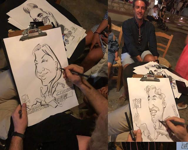 Εκδηλώσεις καρικατούρας , Δώρο ενθύμιο  Costa Navarino Caricatures - Ιούνιος 2019