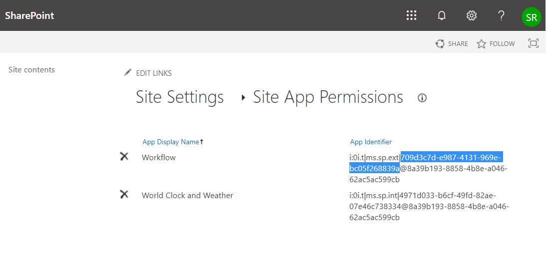 get workflow app id