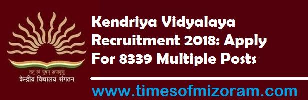 Kendriya Vidyalaya Recruitment 2018: