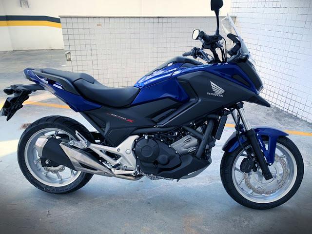 Honda NC 750X, mesmo modelo que Jair Bolsonaro comprou