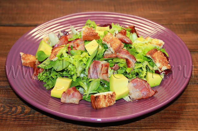 рецепт салата с авокадо от юлии высоцкой