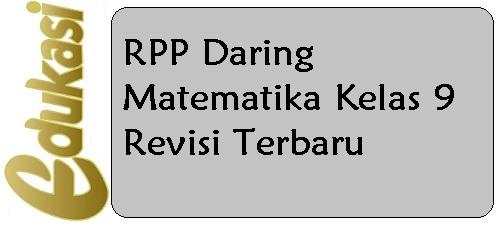 RPP Daring Matematika Kelas 9 Revisi Terbaru