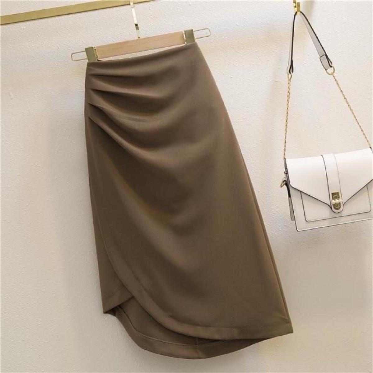Chân váy công sở lưng cao Eva Design xếp ly siêu tôn dáng