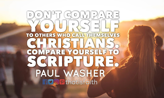 That is Faith: Don't compare yourself to others