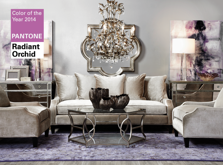 FOCAL POINT STYLING: STORE TOUR: HOLIDAY & RADIANT ORCHID AT ZGALLERIE - Colour Of The Year 2014 In Interior Design
